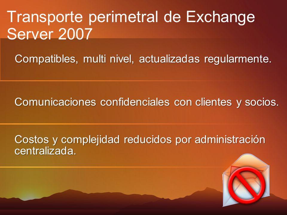 Compatibles, multi nivel, actualizadas regularmente. Comunicaciones confidenciales con clientes y socios. Costos y complejidad reducidos por administr