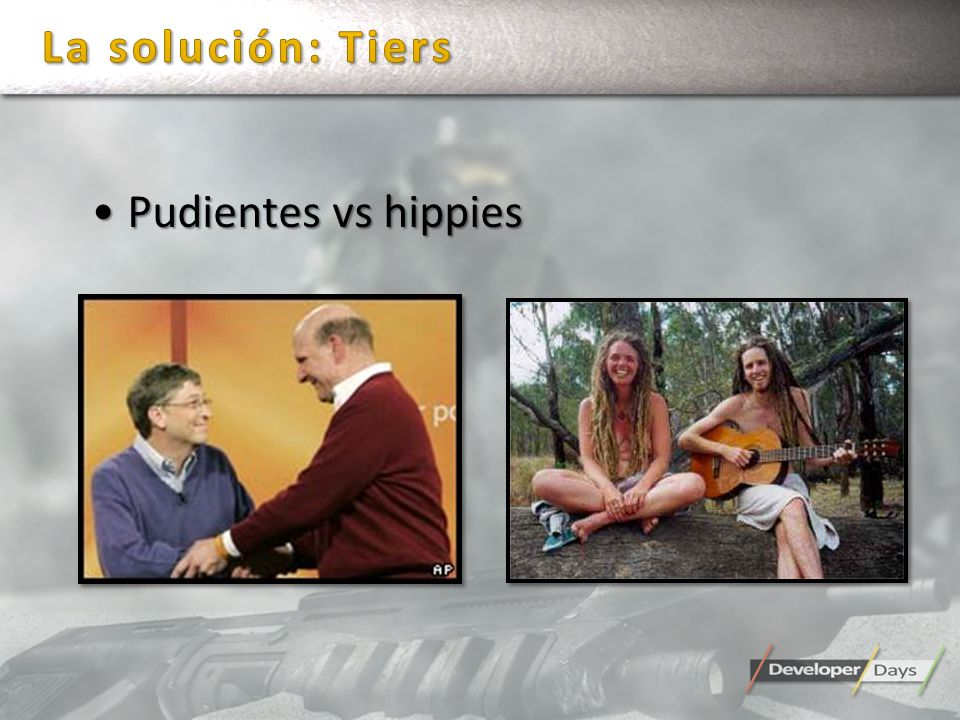 Pudientes vs hippiesPudientes vs hippies