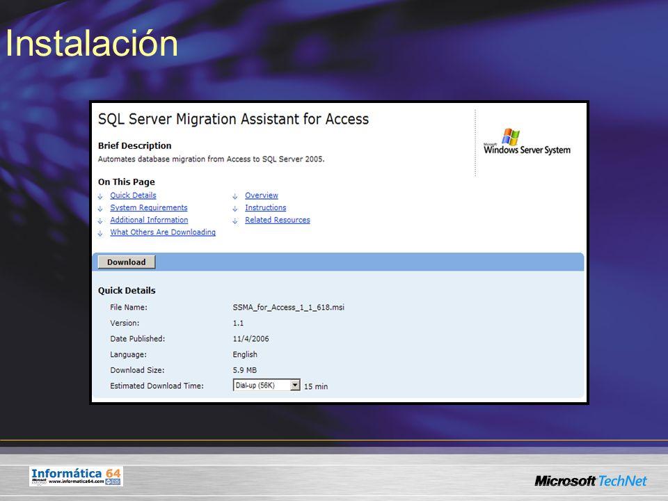 Fases de Migración Fase 2: Gestión de conexiones Conexión a la base de datos SQL Server destino establecida