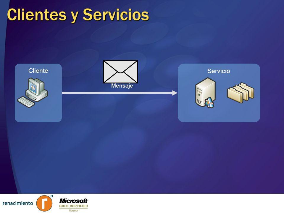 Cliente Servicio Clientes y Servicios Mensaje