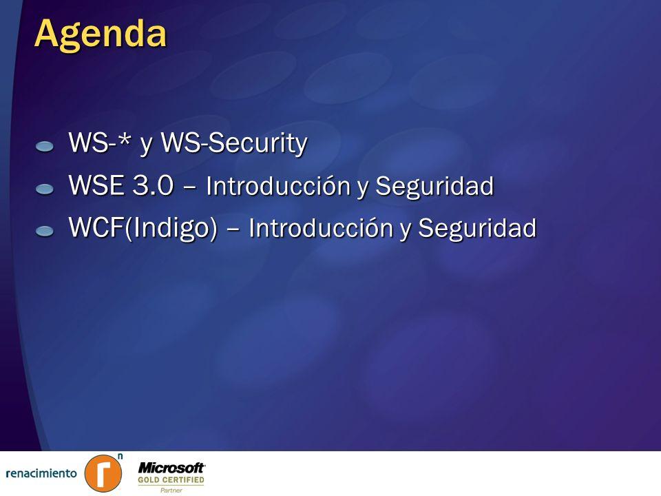 Unión de los stacks actuales Protocolos WS-* Programación Orientada a Servicios Programación basada en atributos Programación Orientada a Mensajes Extensibilidad