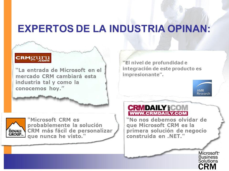 EXPERTOS DE LA INDUSTRIA OPINAN: La entrada de Microsoft en el mercado CRM cambiará esta industria tal y como la conocemos hoy. No nos debemos olvidar