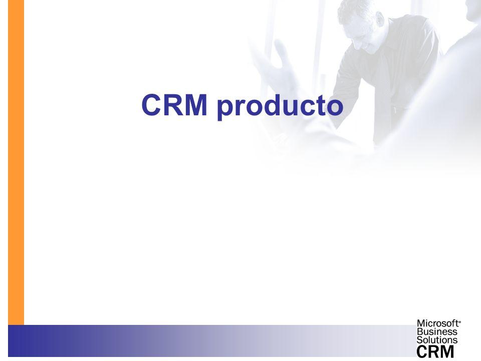 Venta de MBS CRM: algunas claves CRM es más que software –Procesos –Organizaciones –Sistemas –Personas Cambio cultural Usuarios + Dirección Foco: cliente satisfecho Clarificar beneficios Diferenciadores de MBS CRM: –Usabilidad –Fácil de implantar, adaptar e integrar –Funcionalidad –Microsoft: tecnología, entorno productividad Enfoque de Solución