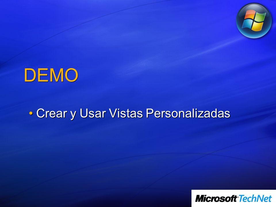 DEMO Crear y Usar Vistas PersonalizadasCrear y Usar Vistas Personalizadas
