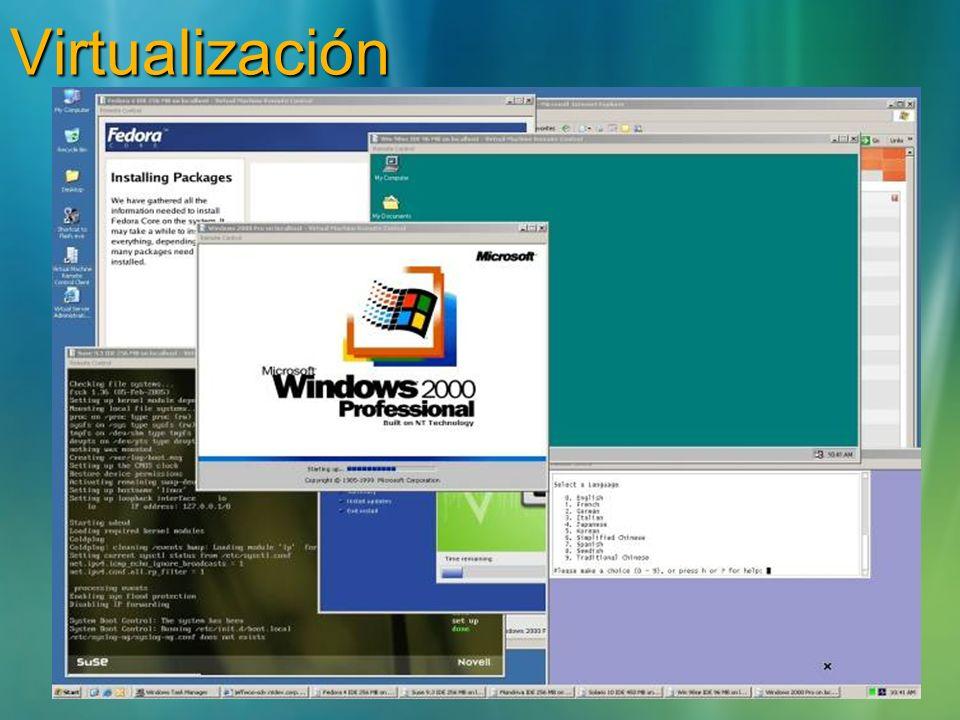 Las aplicaciones se virtualizan por instancia: Ficheros (incl System Files) RegistryFuentes.ini Objetos COM/DCOM objects Servicios Name Spaces Semaforos, Mutexes Las aplicaciones no se instalan ni alteran en modo alguno el Sistema Operativo Las tareas se ejecutan localmente en el equipo anfitrion.