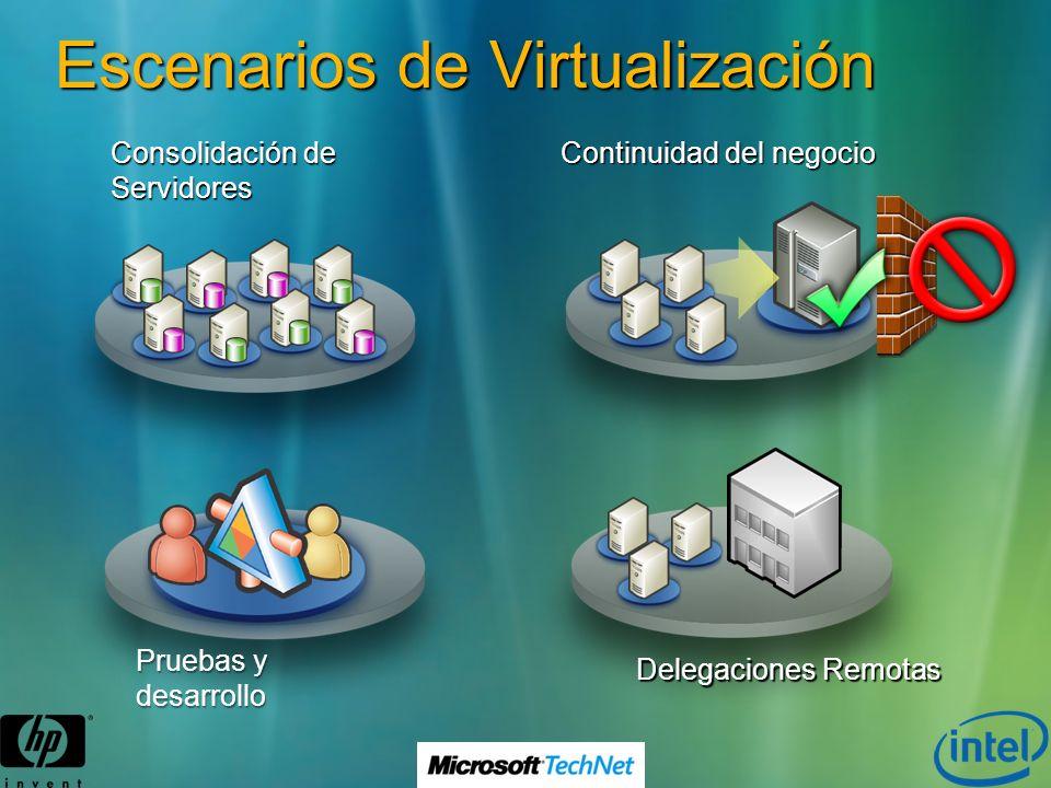 Tipos de Virtualización Emulación Se emula un tipo de arquitectura en otra (PearPC, PPC, SmartPhone) Nativa (o total) La máquina virtual emula una cantidad suficiente de hardware como para que muchas instancias de un SO no modificado funcionen concurrentemente Para-virtualización La maquina virtual (hypervisor) no necesariamente se emula el hardware, sino que en su lugar (o además) ofrece una serie de APIs a un SO conveniente modificado para utilizarlas (hypercalls) Virtualización a nivel de Sistema Operativo Los SO guests comparten el mismo kernel que el SO host creándose diferentes instancias del mismo SO independientes entre si.