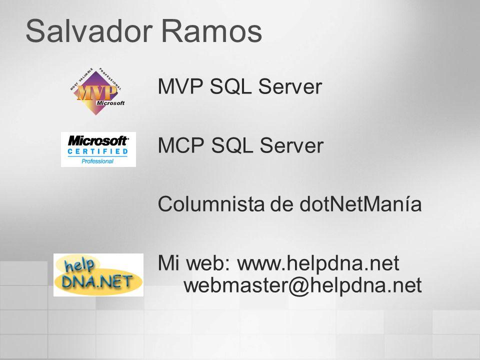 Agenda Tecnologías OLTP vs OLAP Business Intelligence Diseño de Datawarehouse y soluciones OLAP Introducción a Data Mining Introducción al lenguaje MDX y herramientras cliente OLAP Novedades de OLAP y DTS en SQL Server 2005