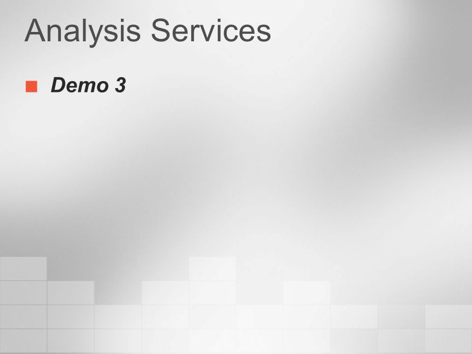 Analysis Services Demo 3