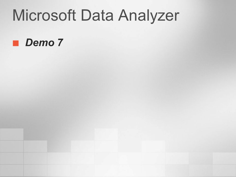 Microsoft Data Analyzer Demo 7