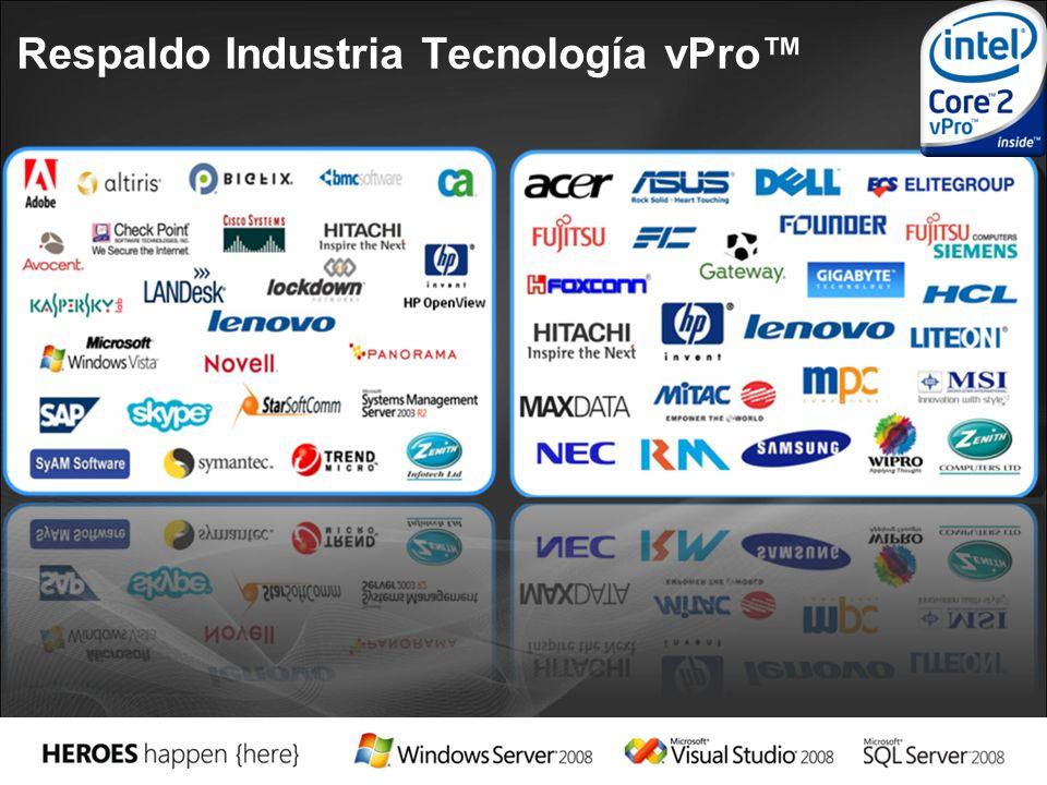 Respaldo Industria Tecnología vPro