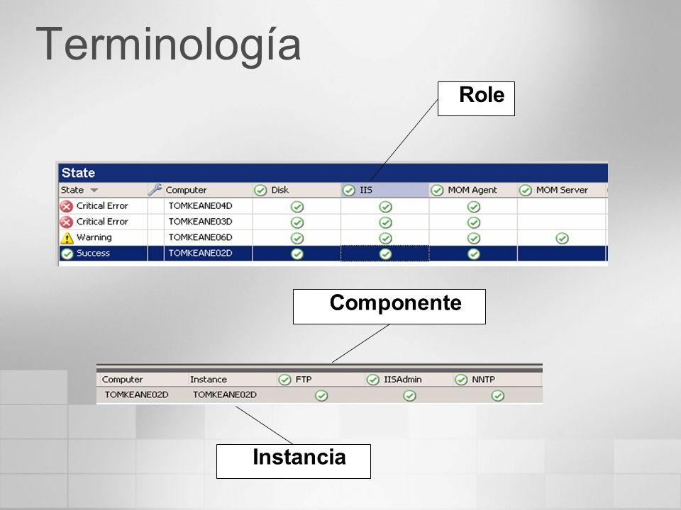 Terminología Role Instancia Componente