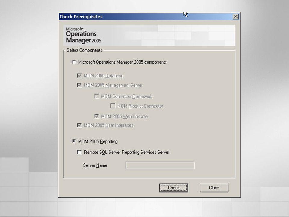 Reportes SQL Server Reporting Services Reportes vía WEB Administración empresarial Consola central Filtrado de reglas Respuestas pro-activas a alertas Consolidación de Eventos.