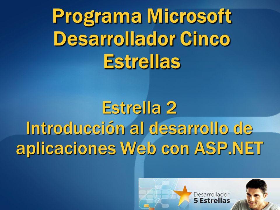 Componentes de una aplicación ASP.NET WebForms (Formularios Web) Uno o más archivos con extensión.aspx Uno o más archivos con extensión.aspx Archivos Code-Behind Archivos asociados a WebForms que contienen código del lado del servidor (Ej.