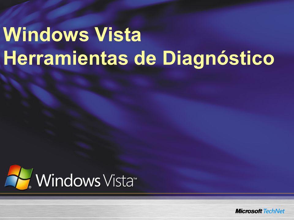 Auto diagnóstico en Windows Vista Beneficios de un auto diagnóstico proactivo Alertar al personal de TI de problemas potenciales Lo que veremos hoy?