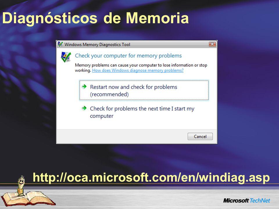 http://oca.microsoft.com/en/windiag.asp Diagnósticos de Memoria