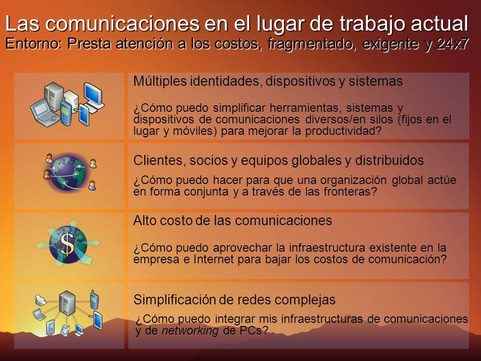 ¿Cómo puedo simplificar herramientas, sistemas y dispositivos de comunicaciones diversos/en silos (fijos en el lugar y móviles) para mejorar la productividad.