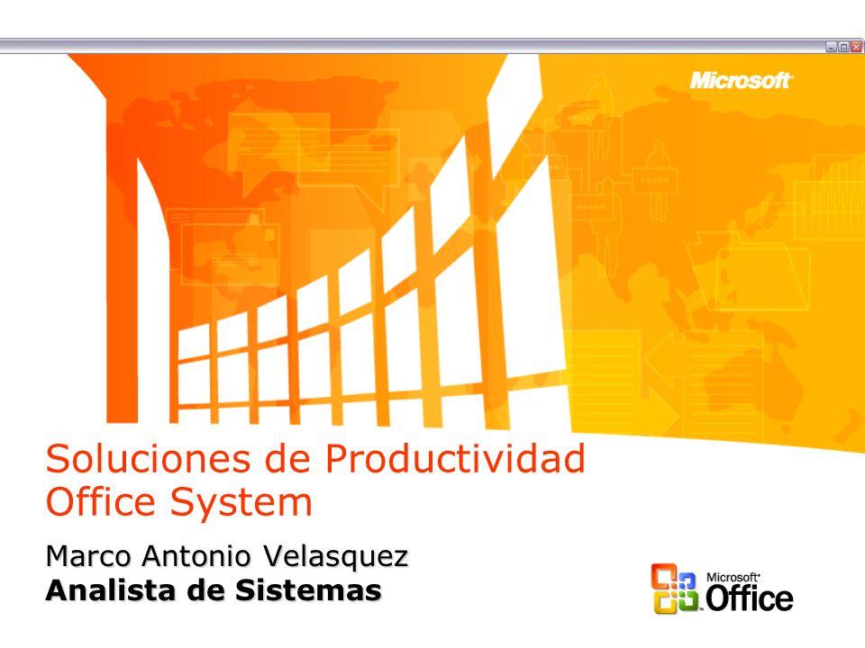 Soluciones de Productividad Office System Marco Antonio Velasquez Analista de Sistemas