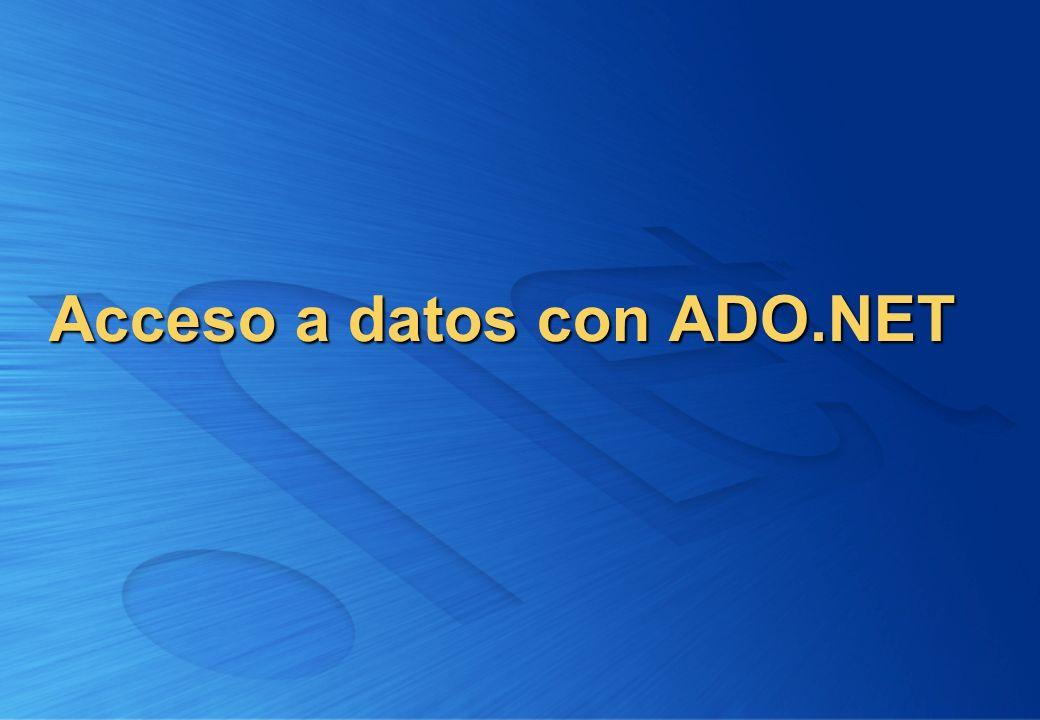 Acceso a datos con ADO.NET