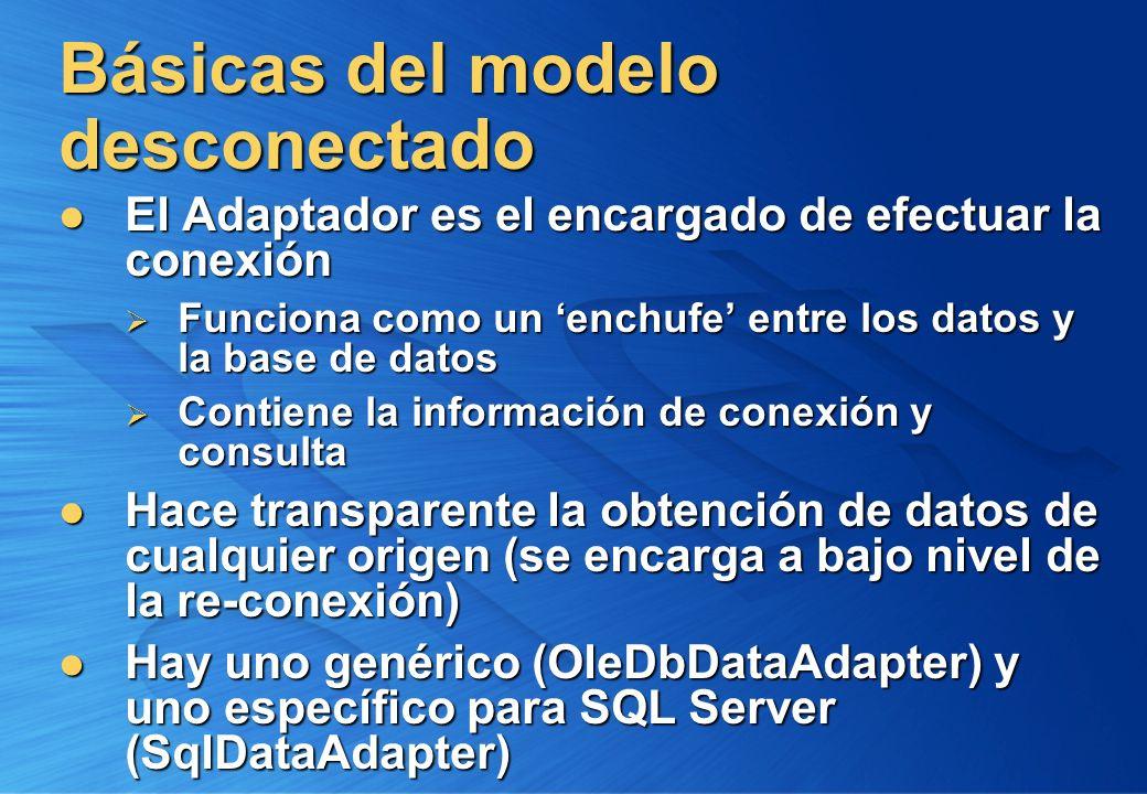 Básicas del modelo desconectado El Adaptador es el encargado de efectuar la conexión El Adaptador es el encargado de efectuar la conexión Funciona com