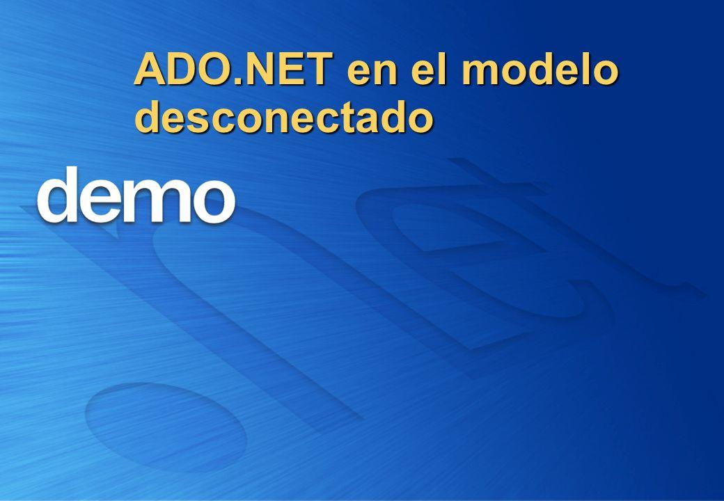 ADO.NET en el modelo desconectado