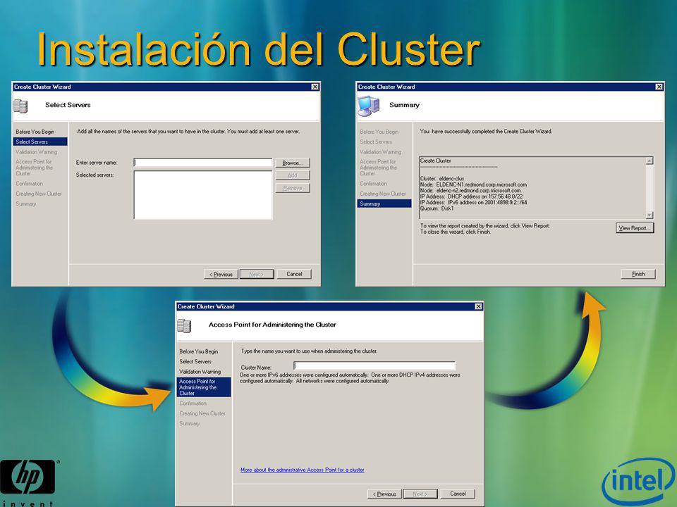 Instalación del Cluster