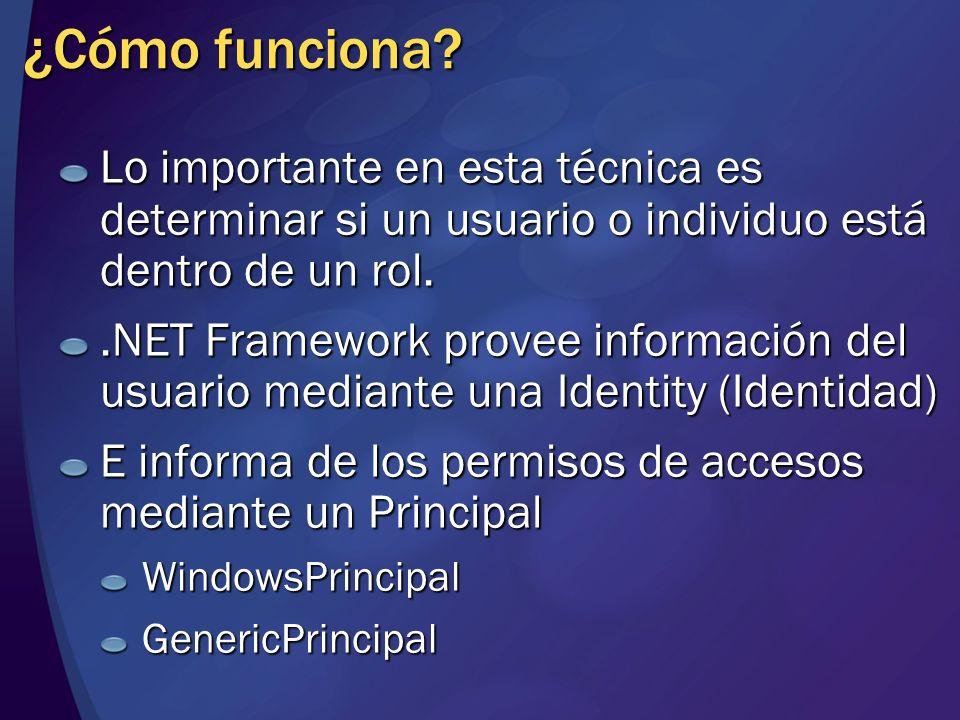 Demo Indentity y WindowsPrincipal