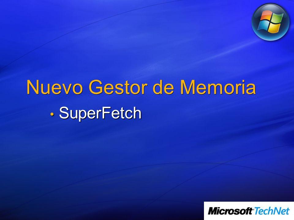 Nuevo Gestor de Memoria SuperFetch SuperFetch