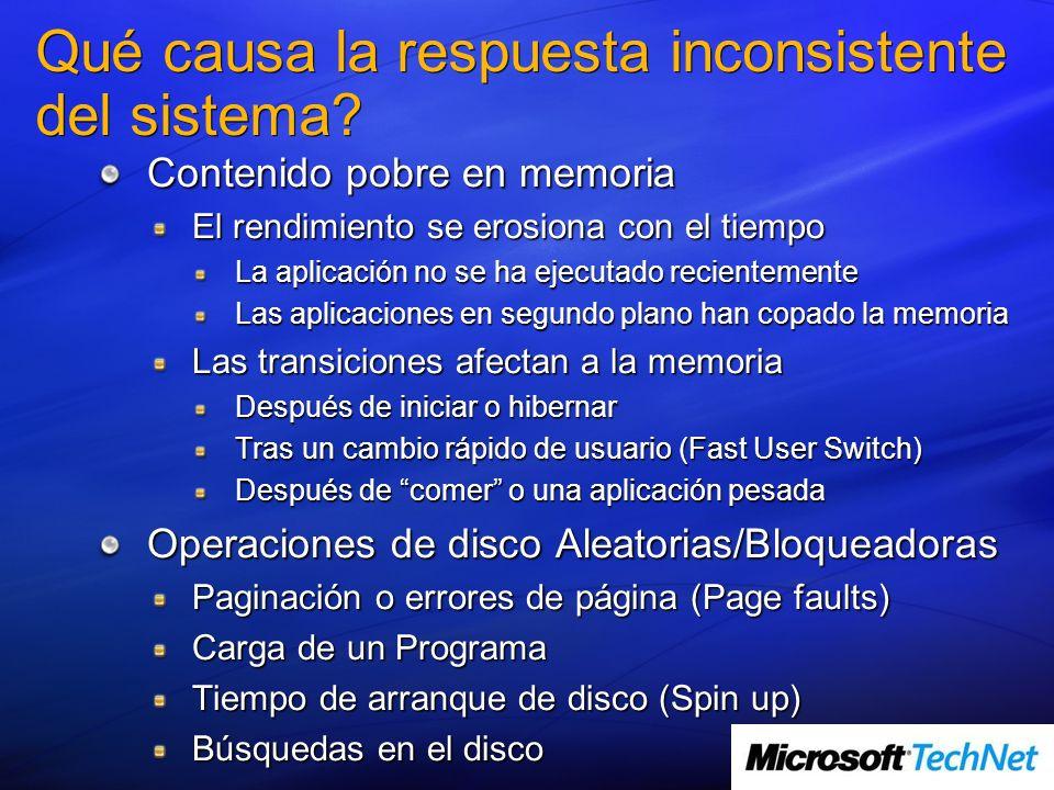 Contenido pobre en memoria Gestión efectiva de un recurso limitado y compartido Problema perenne de la informática Afecta al Disco, CPU, Red, etc.
