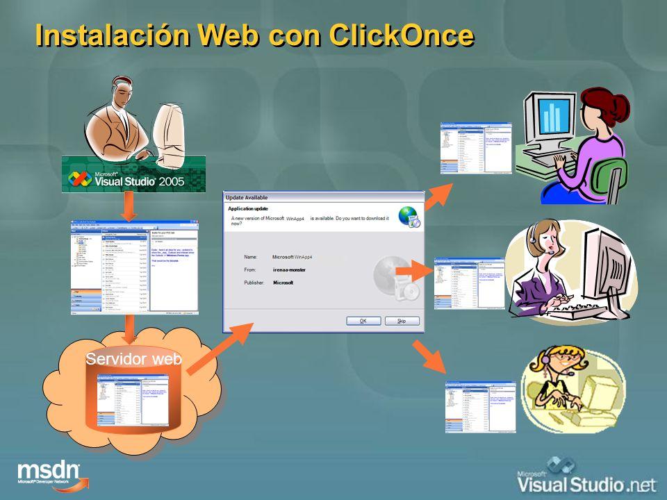 Servidor web Instalación Web con ClickOnce
