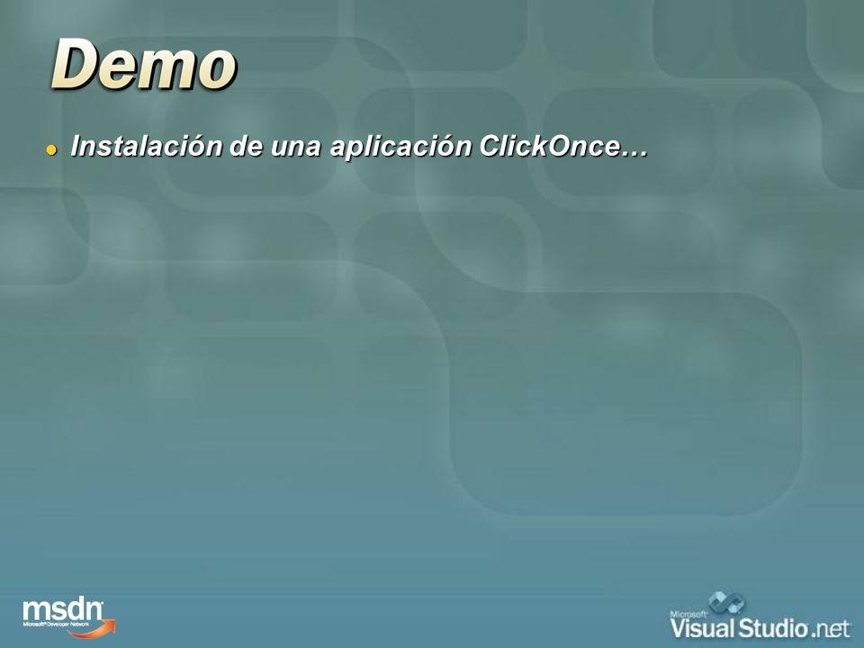 Instalación de una aplicación ClickOnce… Instalación de una aplicación ClickOnce…