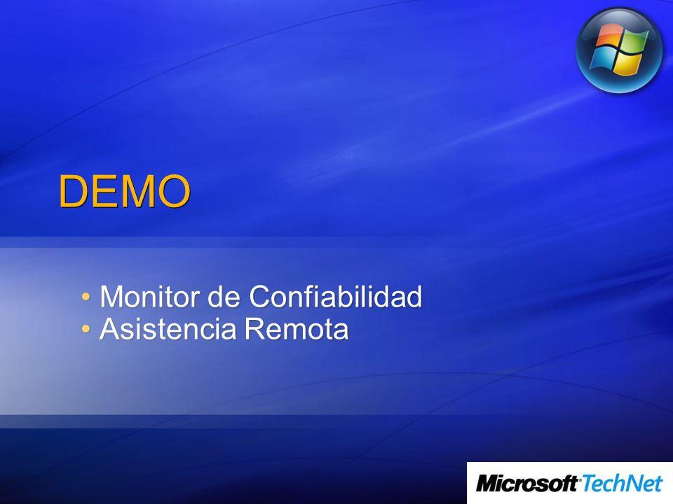 DEMO Monitor de Confiabilidad Monitor de Confiabilidad Asistencia Remota Asistencia Remota