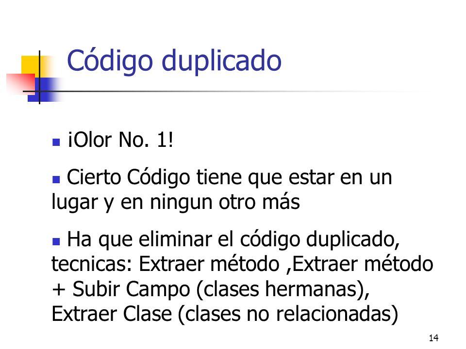 14 Código duplicado ¡Olor No.1.