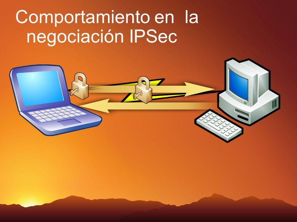 Comportamiento en la negociación IPSec