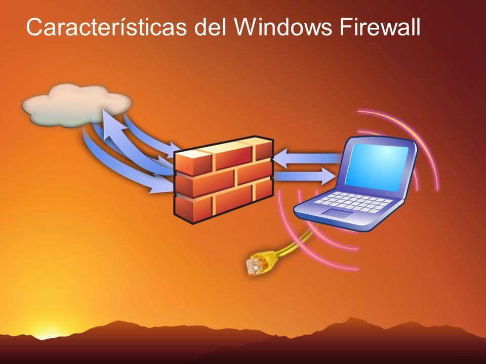 Reglas del Firewall Restricciones por Servicio Reglas de conexión segura Reglas de autenticación Reglas de Bloqueo Reglas para Permitir Reglas por defecto Local PolicyGPO