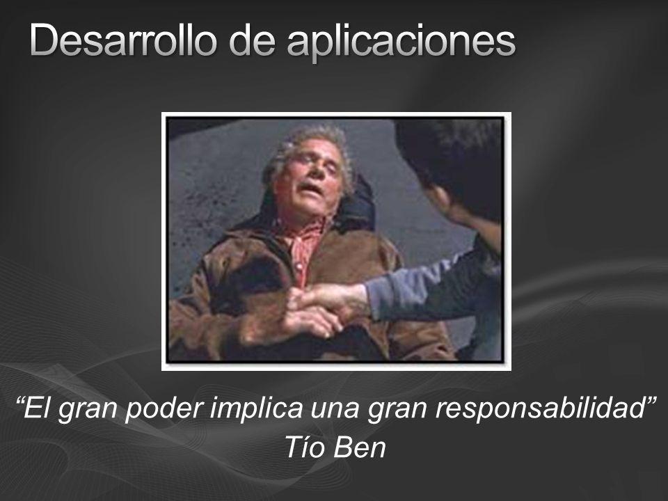El gran poder implica una gran responsabilidad Tío Ben