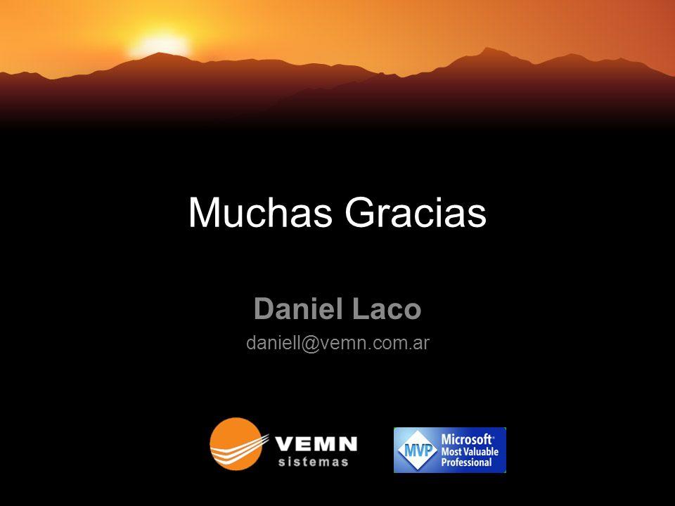 Muchas Gracias Daniel Laco daniell@vemn.com.ar