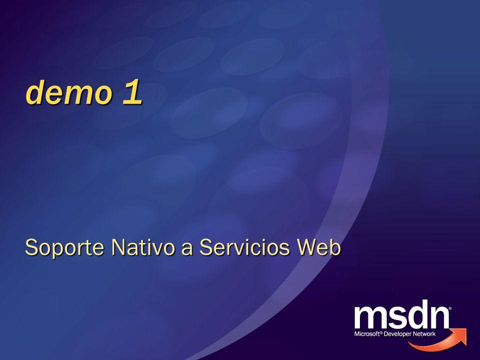 demo 1 Soporte Nativo a Servicios Web