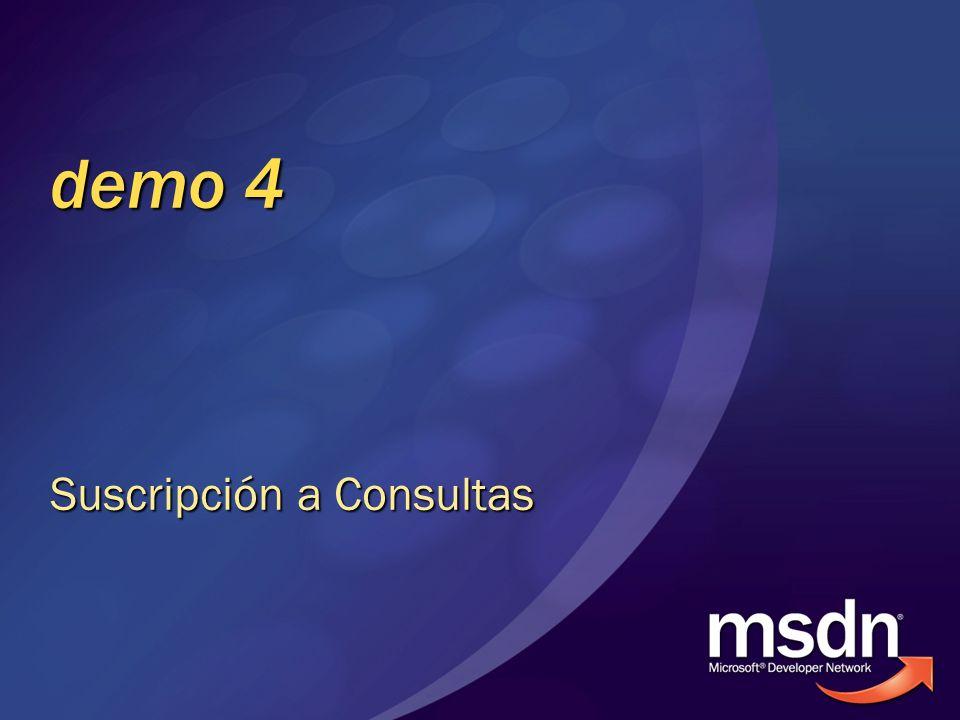 demo 4 Suscripción a Consultas