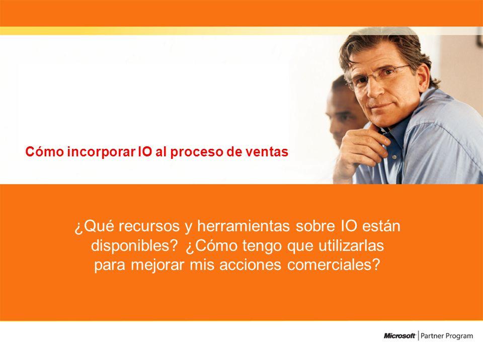 Cómo incorporar IO al proceso de ventas ¿Qué recursos y herramientas sobre IO están disponibles.