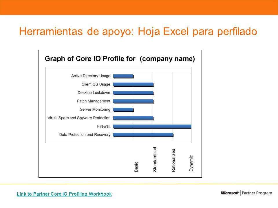 Link to Partner Core IO Profiling Workbook Herramientas de apoyo: Hoja Excel para perfilado