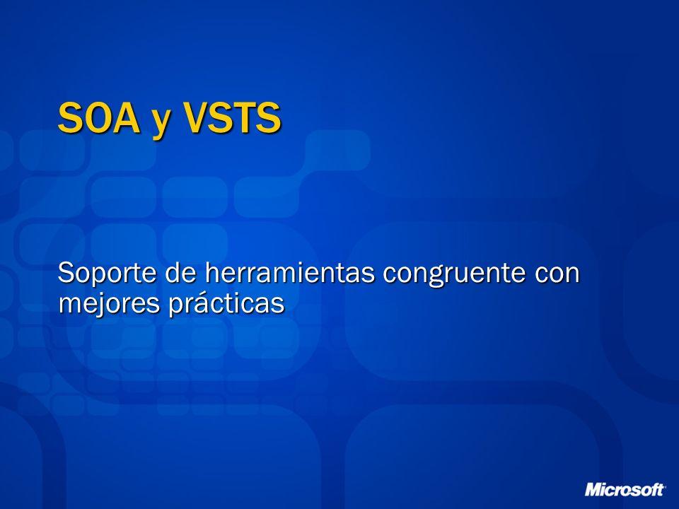 SOA y VSTS Soporte de herramientas congruente con mejores prácticas