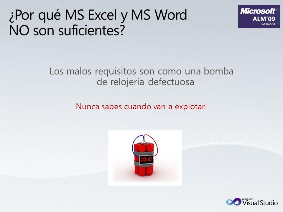 ¿Por qué MS Excel y MS Word NO son suficientes? Los malos requisitos son como una bomba de relojería defectuosa Nunca sabes cuándo van a explotar!