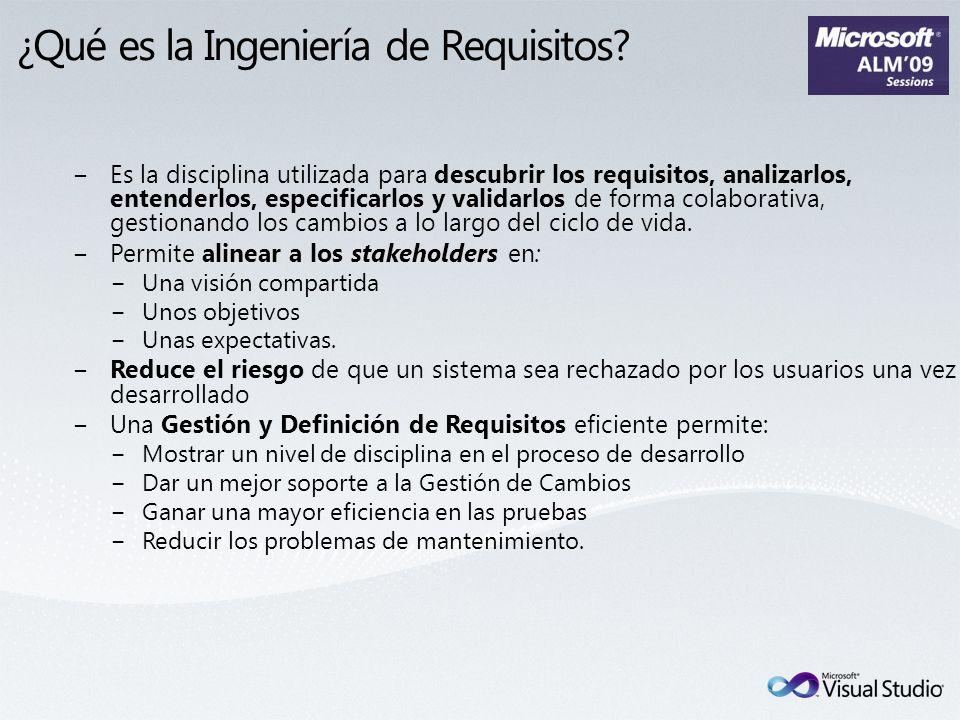 ¿Qué es la Ingeniería de Requisitos? Es la disciplina utilizada para descubrir los requisitos, analizarlos, entenderlos, especificarlos y validarlos d