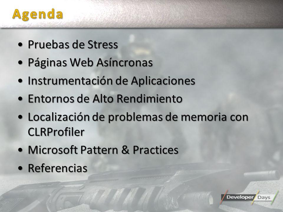 Pruebas de StressPruebas de Stress Páginas Web AsíncronasPáginas Web Asíncronas Instrumentación de AplicacionesInstrumentación de Aplicaciones Entorno