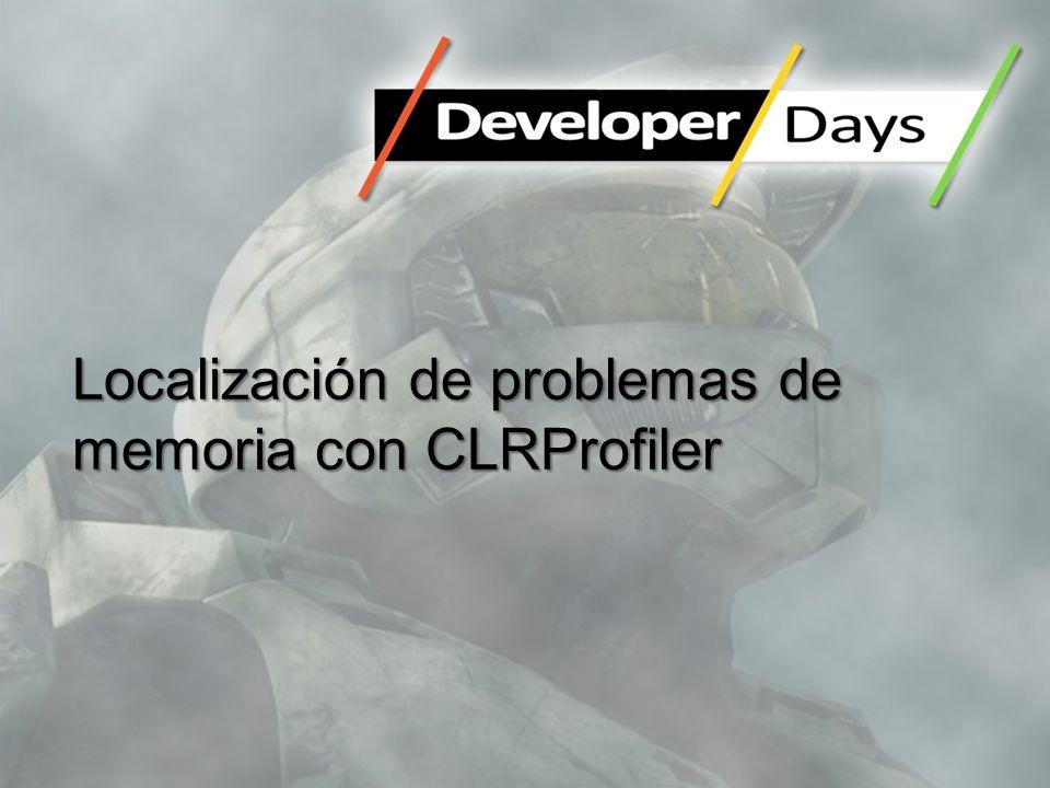 Localización de problemas de memoria con CLRProfiler