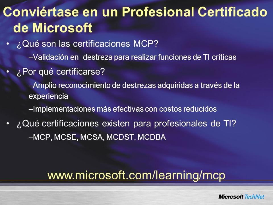 Conviértase en un Profesional Certificado de Microsoft ¿Qué son las certificaciones MCP.