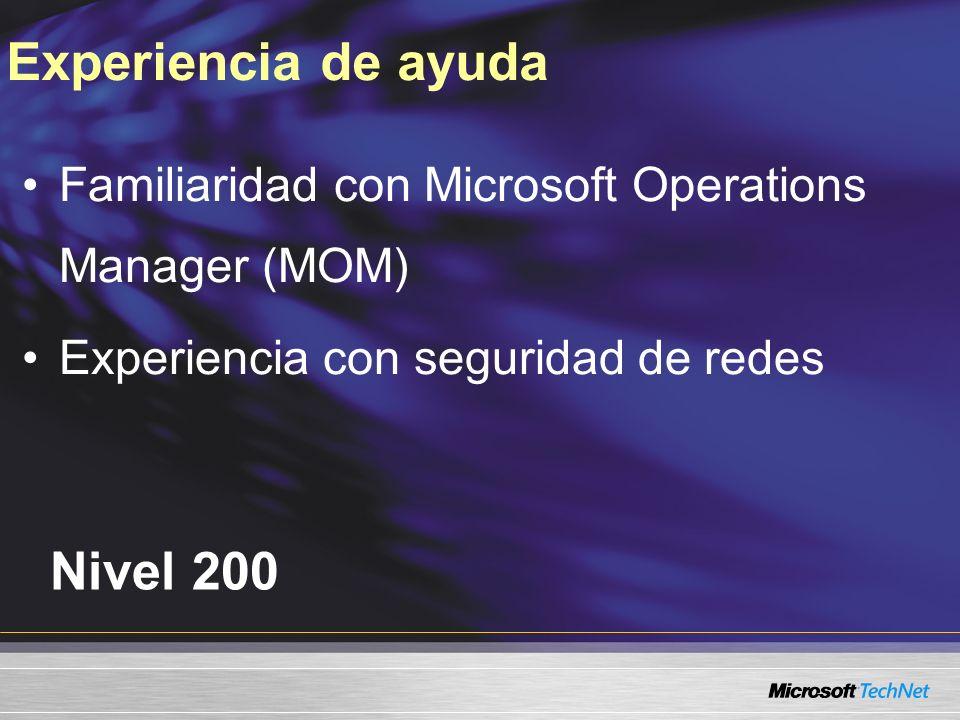 www.microsoft.com/technet/sec-07 Visite el sitio de FCS en TechNet: www.microsoft.com/technet/clientsecurity Visite el siguiente enlace para obtener información adicional: Para mayor información