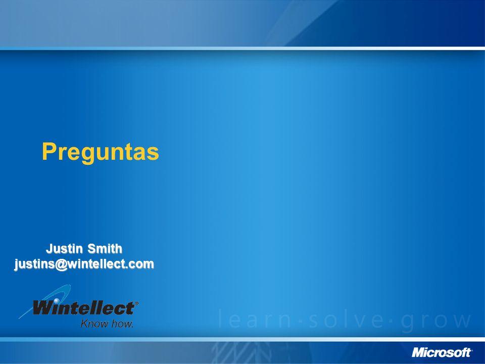 Preguntas Justin Smith justins@wintellect.com