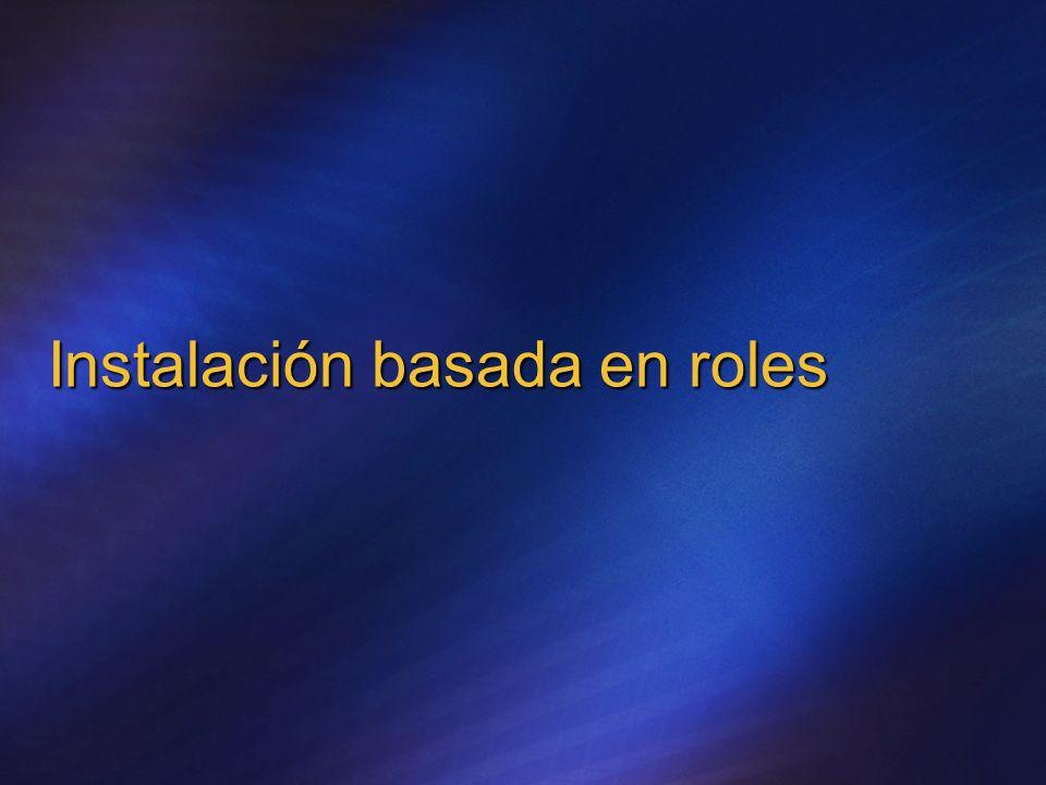 Instalación basada en roles