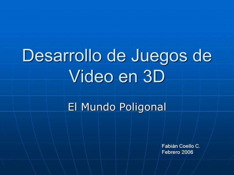 Desarrollo de Juegos de Video en 3D El Mundo Poligonal Fabián Coello C. Febrero 2006